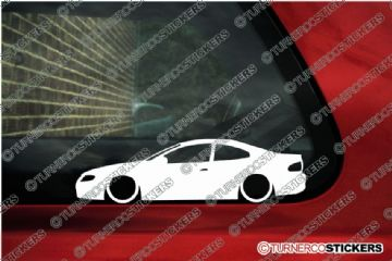 2x LOW Vauxhall Monaro V8 silhouette stickers, Decals